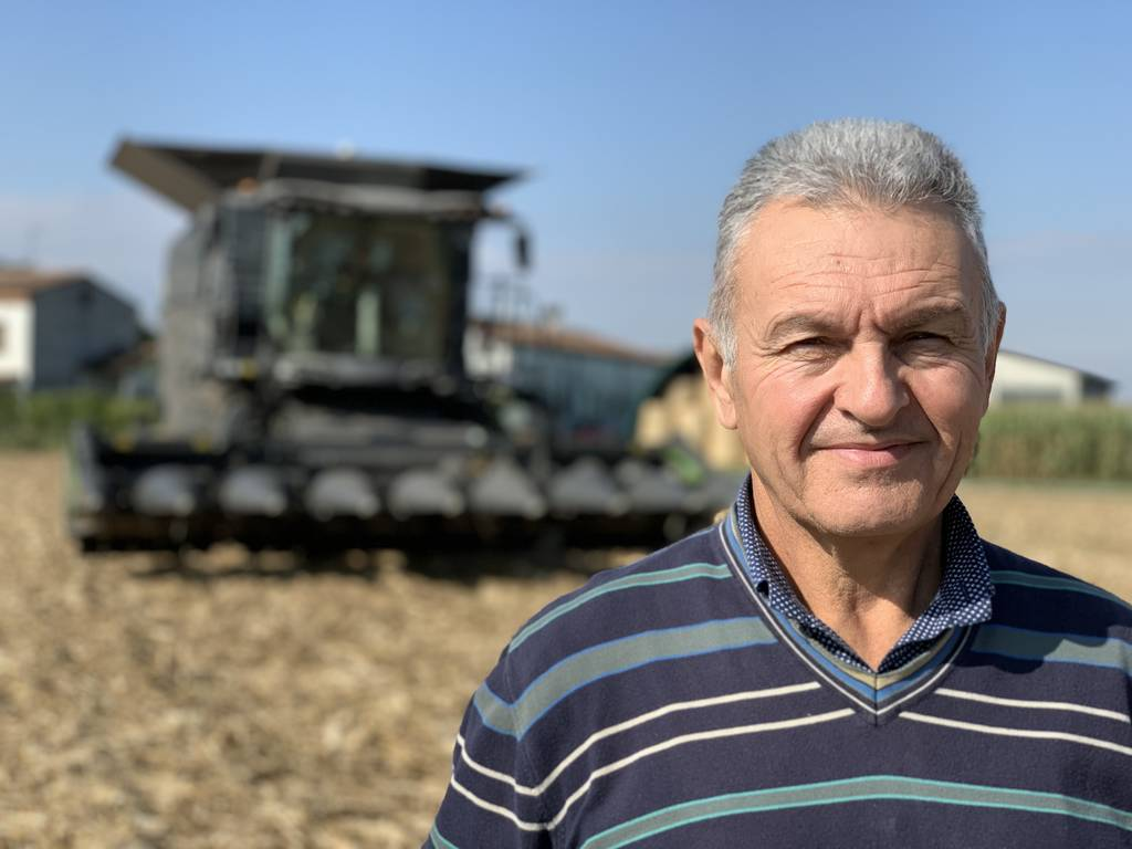 """""""I have been harvesting since I was sixteen – at first as my father's helper. But this is the first time I try steering a combine with a joystick,"""" says Giorgio Speranza. """"I really like it."""""""