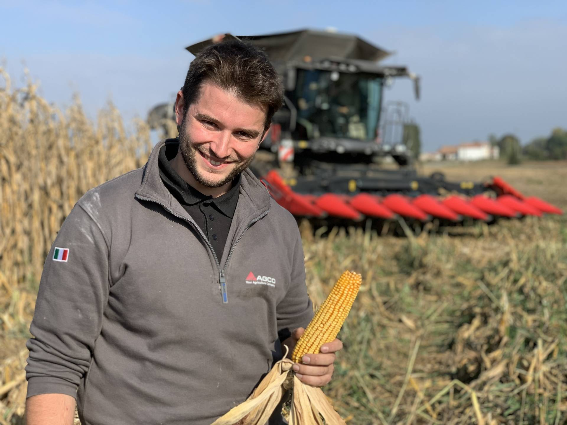 """Andrea Dal Soglio, Field Test Engineer at AGCO, Breganze, Italy: """"The joystick makes turning at the edge of the field fast and easy. With the steering wheel gone you also have more room available to position your seat as you find most comfortable."""""""