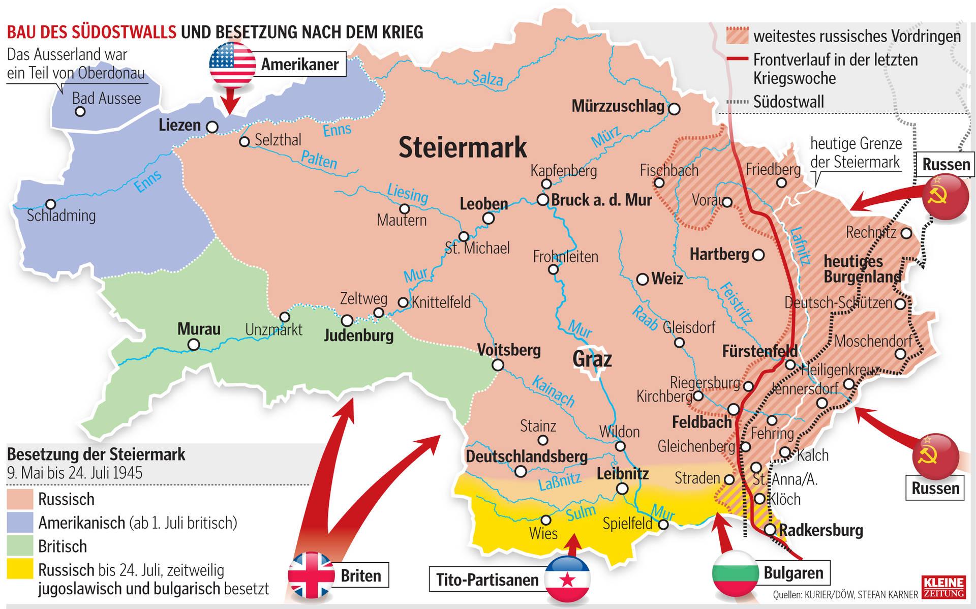 Schlachtfelder Des 2 Weltkriegs Karte.Der Krieg In Der Steiermark Kleinezeitung At