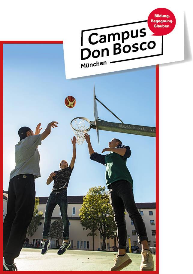 Ein Ort der Begegnung: der Basketballplatz auf dem Campus Don Bosco.